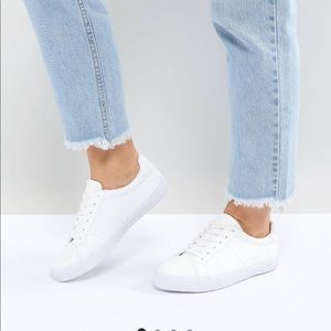 ASOS white sneakers wide fit